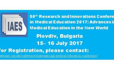 IAES Banner_Medical Conference_Plovdiv Bulgaria_15– 16 July 2017